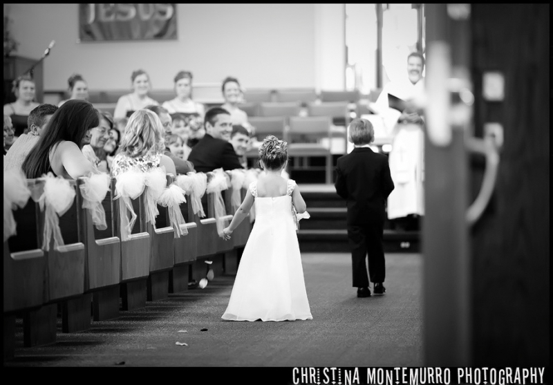 Pittsburgh Wedding Photography Flower Girl Walking In