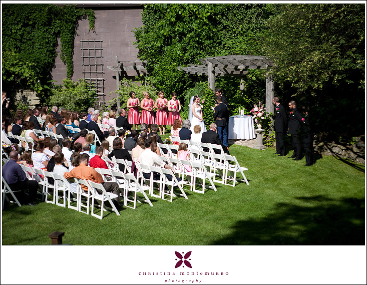 Springwood Conference Center Wedding - Outdoor Courtyard Ceremony Location