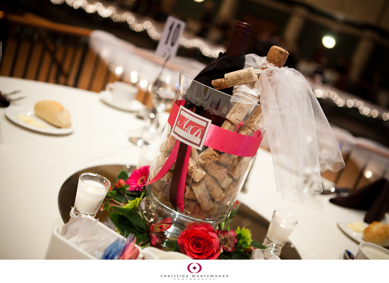 Winethemed centerpieces Pittsburgh Wedding Photographer Christina