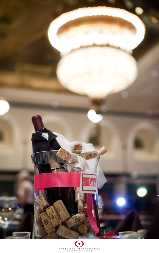 Wine themed centerpieces pittsburgh wedding photographer for Wine themed centerpieces