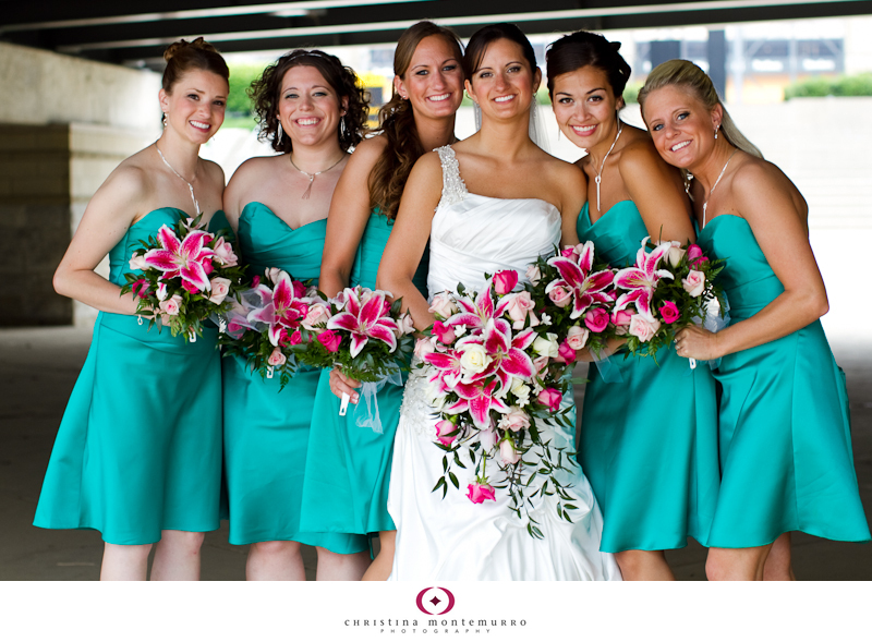 Wedding Flowers To Go With Green Dresses : Stargazer lilies on lily bouquet and