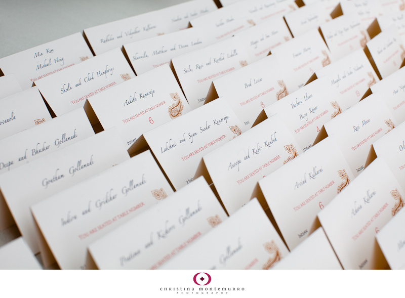 Wedding details: elegant paisley invitations, place cards, and ...