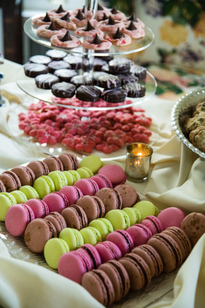 Colorful Macarons at Wedding Cookie Table