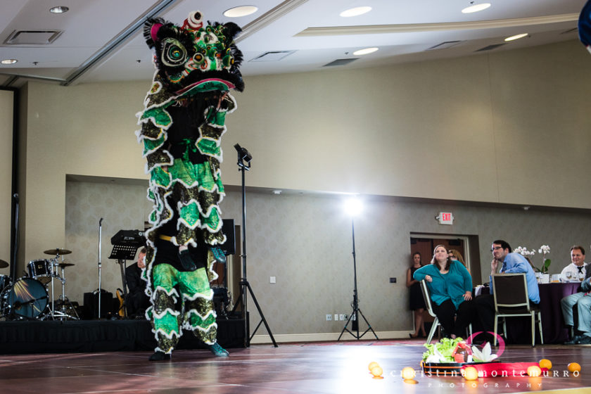 Chinese Lion Dance at Pittsburgh Wedding