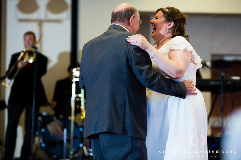 Bride Laughing during the Father Daughter Dance Wyndham Grand