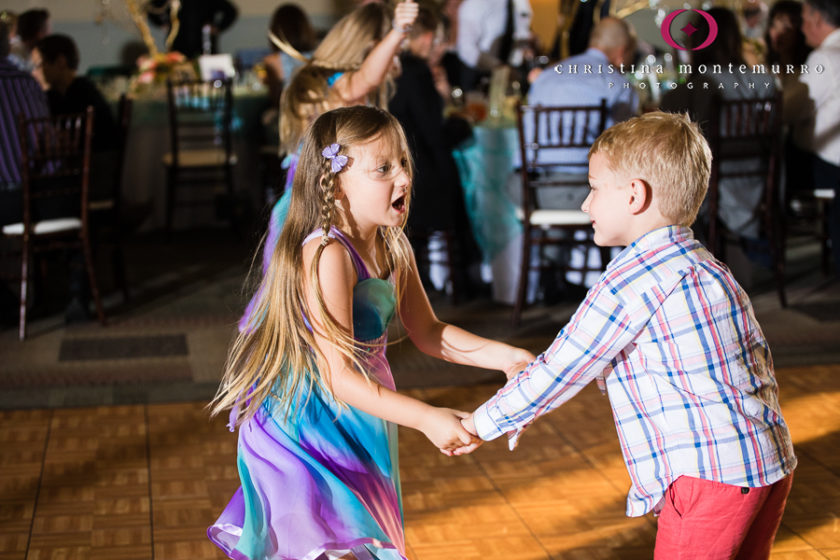 Cute kids dancing at their wedding reception at the Heinz History Center Mueller Center