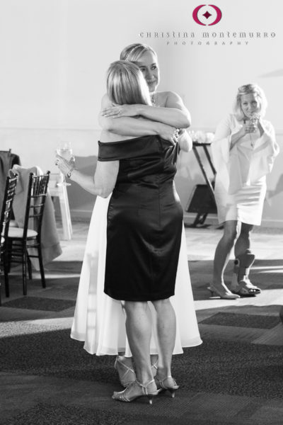 Bride hugs her mother at her wedding at Heinz History Center