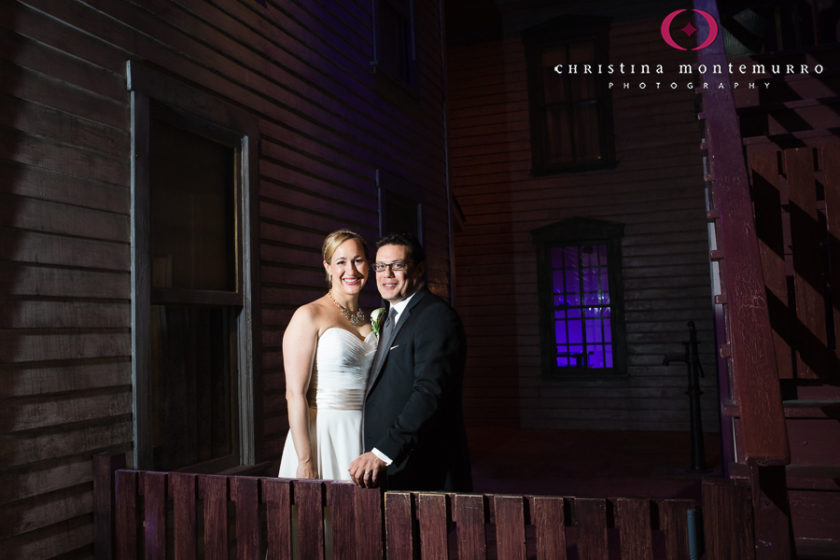 Bride and Groom Portrait at Heinz History Center