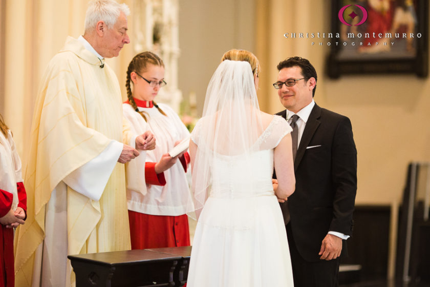 Bride and Groom saying vows at Saint Peter Parish Pittsburgh