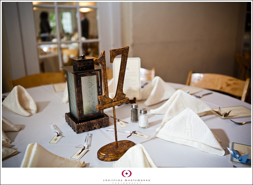 Woodsy Table Numbers Lantern Centerpieces Pittsburgh Wedding