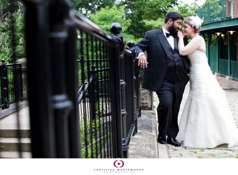 Lauren Sid Schenley Park feather headpiece Pittsburgh Wedding Photos