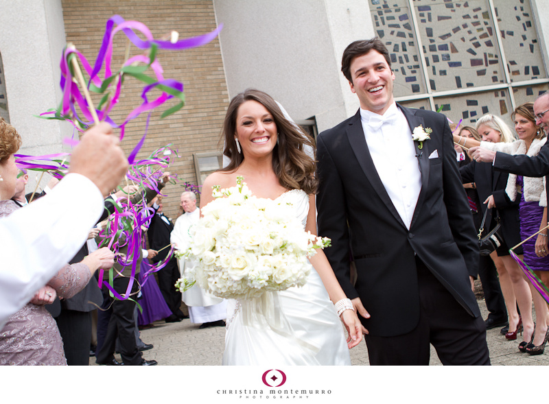 Have a fun wedding exit – use ribbon wands!