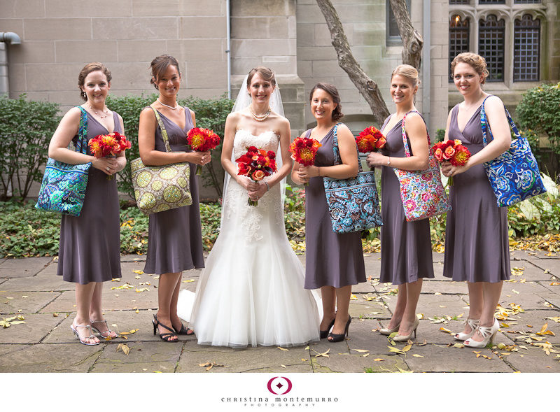 Bridesmaid Gifts Vera Bradley Bags Fall Color Bouquets