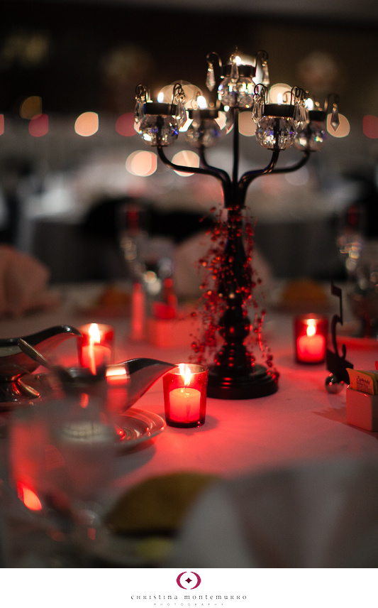 Black White Red Wedding Details - Red Votive Candle Holders, Black Tea Light Candleholder Centerpiece Sheraton Station Square Pittsburgh