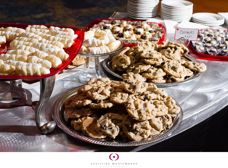 Pittsburgh Wedding Cookie Table Tradition with Red Trays ...