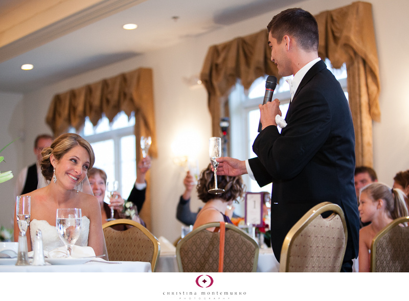 Lindsey Dan Groom Speech Twelve Oaks Mansion Wedding Cranberry