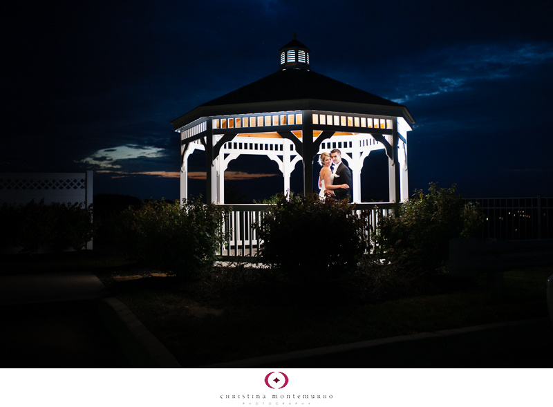 Lindsey Dan Night Portrait Twelve Oaks Mansion Gazebo Wedding Cranberry