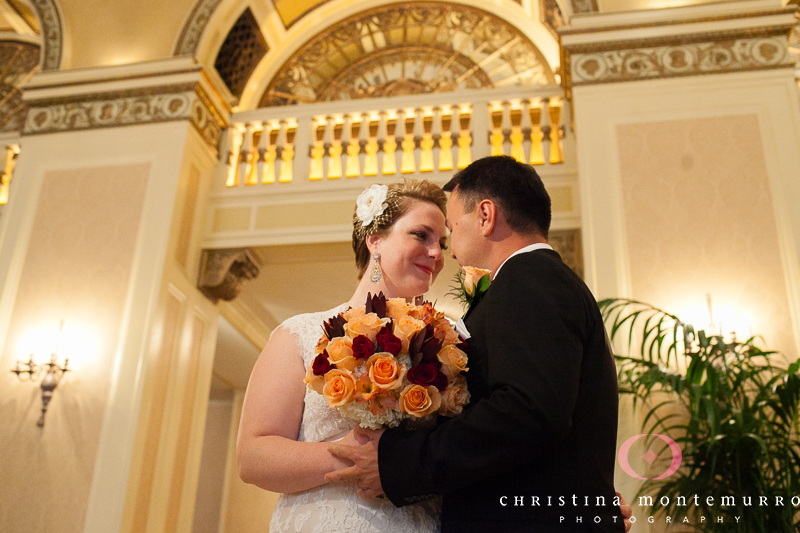 Pittsburgh Omni William Penn Hotel Lobby Wedding Photos