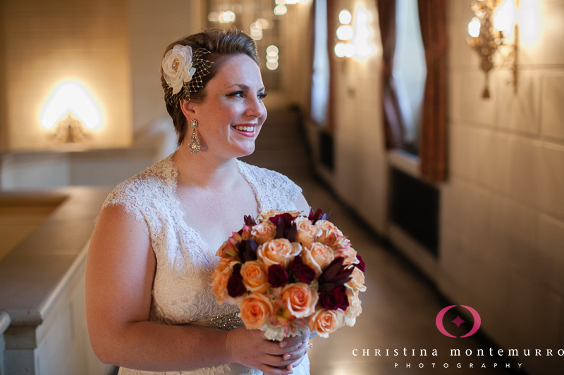 Pittsburgh Omni William Penn Hotel Mezzanine Lobby Bridal Portrait