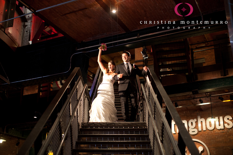 Heinz History Center Pittsburgh Great Hall Wedding Reception Bride and Groom Entrance