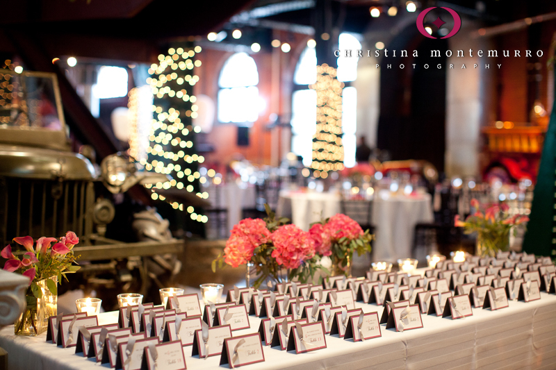 Heinz History Center Pittsburgh Great Hall Wedding Reception Escort Card Table