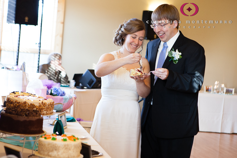 Beth Ben Blueberry Hill Park Pittsburgh Wedding Bride Groom Cake Cutting
