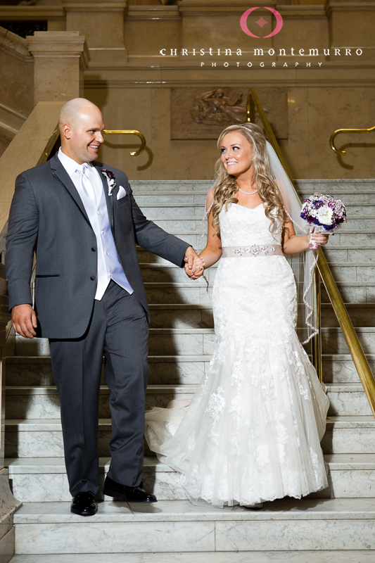 Carnegie Museum Wedding Pittsburgh - Grand Staircase Portraits
