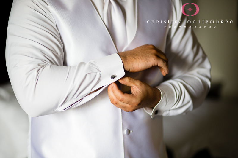 Groom Getting Ready at Wyndham Hotel Oakland Pittsburgh Wedding Photography