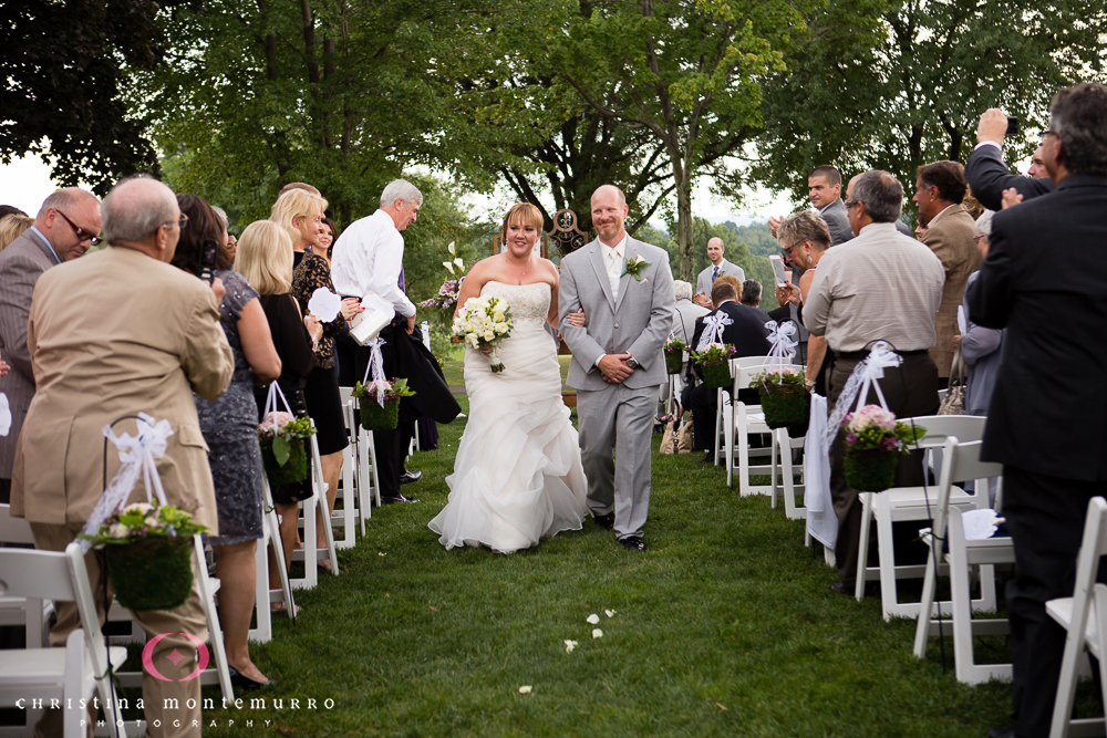 Wedding Ceremony Recessional Rebekah Matt Edgewood Country Club Pittsburgh Wedding Photography-18