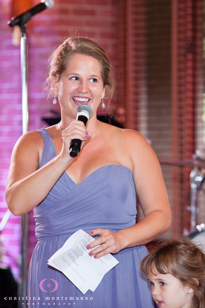 Speeches Rebekah Matt Edgewood Country Club Pittsburgh Wedding Photography