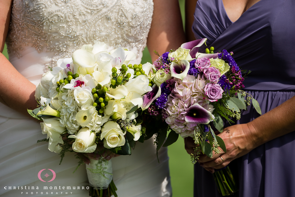 White Rose Purple Rose Purple Calla Lily Bouquets Rebekah Matt Edgewood Country Club Pittsburgh Wedding Photography-4