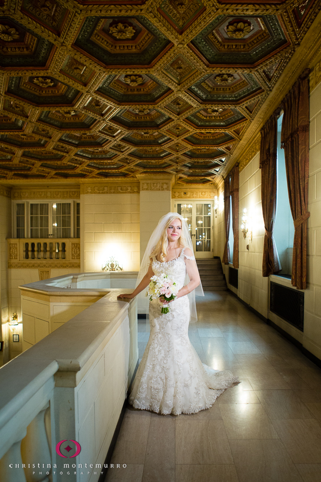 Bridal Portrait Omni William Penn Hotel Mezzanine Pittsburgh Wedding Photography
