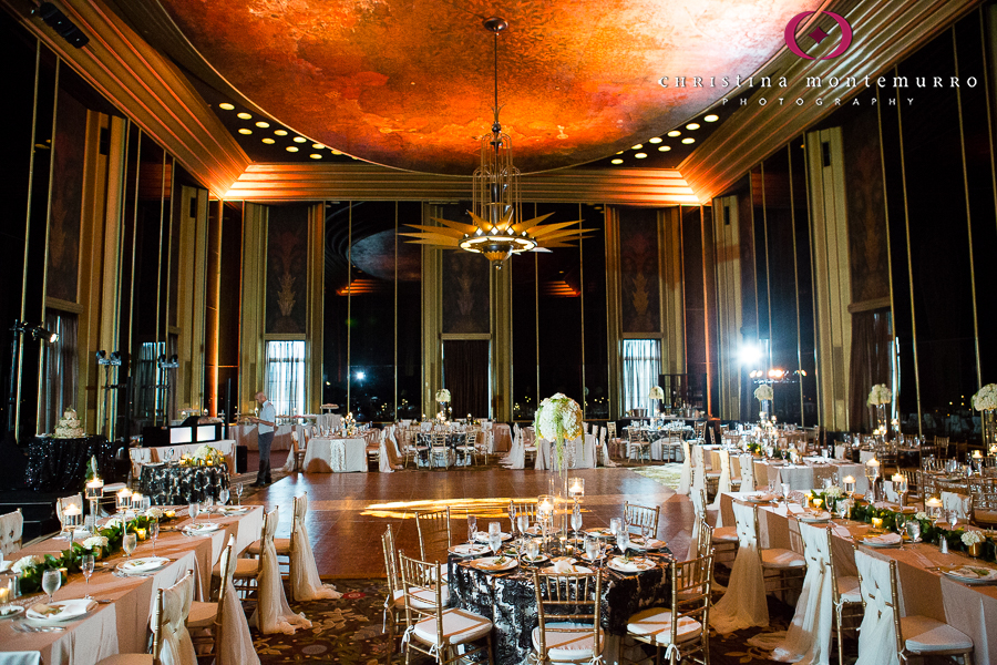Black White And Gold Wedding Reception Details Omni William Penn