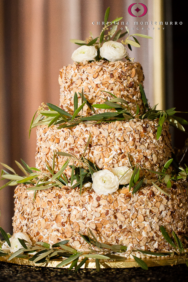 Almond Wedding Cake.Burnt Almond Torte Wedding Cake Olive Branches Ranunculus William