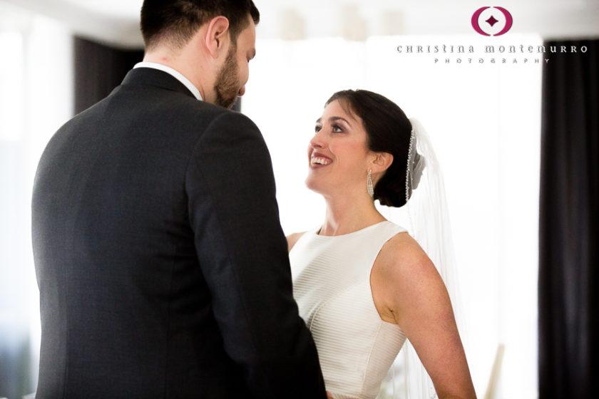 Kimpton Hotel Monaco Pittsburgh Wedding Photos Bride and Groom First Look