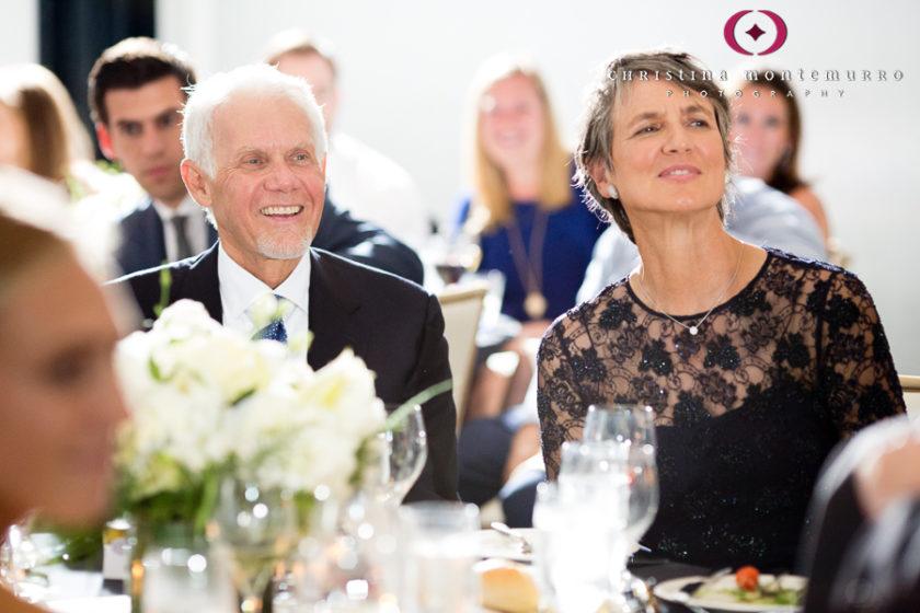 Kimpton Hotel Monaco Pittsburgh Wedding Photos Sheffield Ballroom Parents of the Groom Listening to Speech