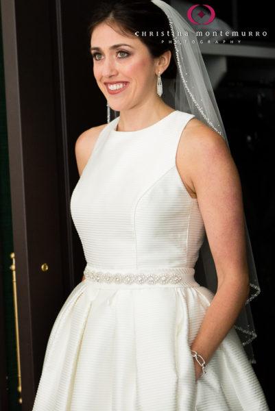 Kimpton Hotel Monaco Pittsburgh Wedding Photos Bride Rosa Clara Wedding Gown with Pockets