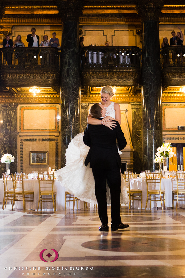Pittsburgh Wedding Photographer Carnegie Museum Music Hall Foyer First Dance