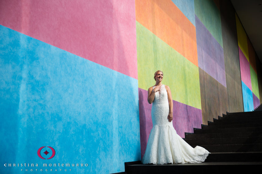Pittsburgh Wedding Photographer Carnegie Museum Color Wall