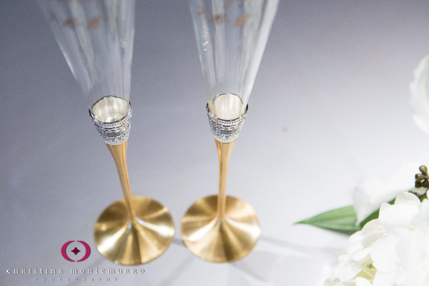 Pittsburgh Wedding Photographer Carnegie Museum Music Hall Foyer Toasting Flutes