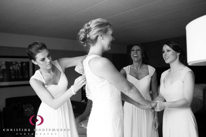 Pittsburgh Wedding Photographer Bride Getting Ready Allure Couture