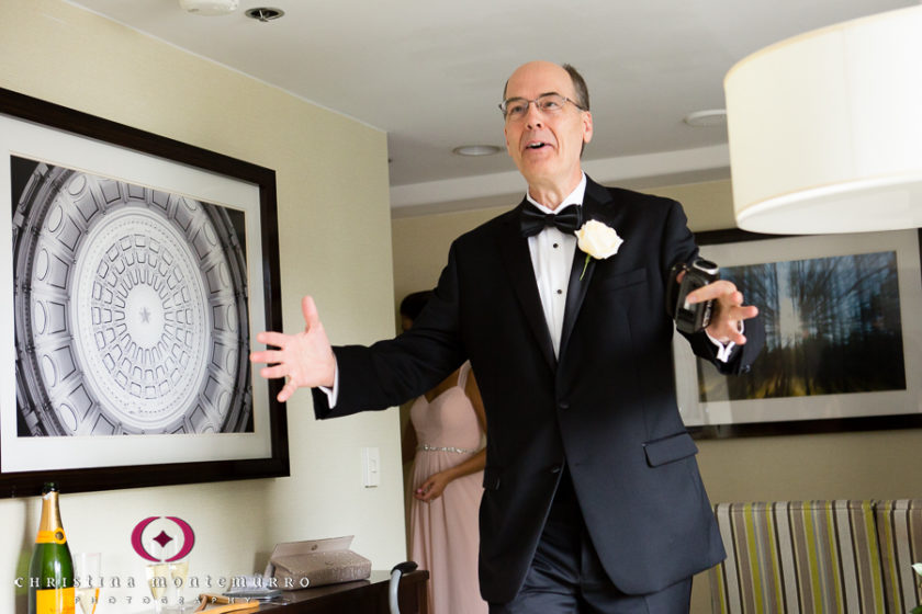 Pittsburgh Wedding Photographer Dad First Look with Bride