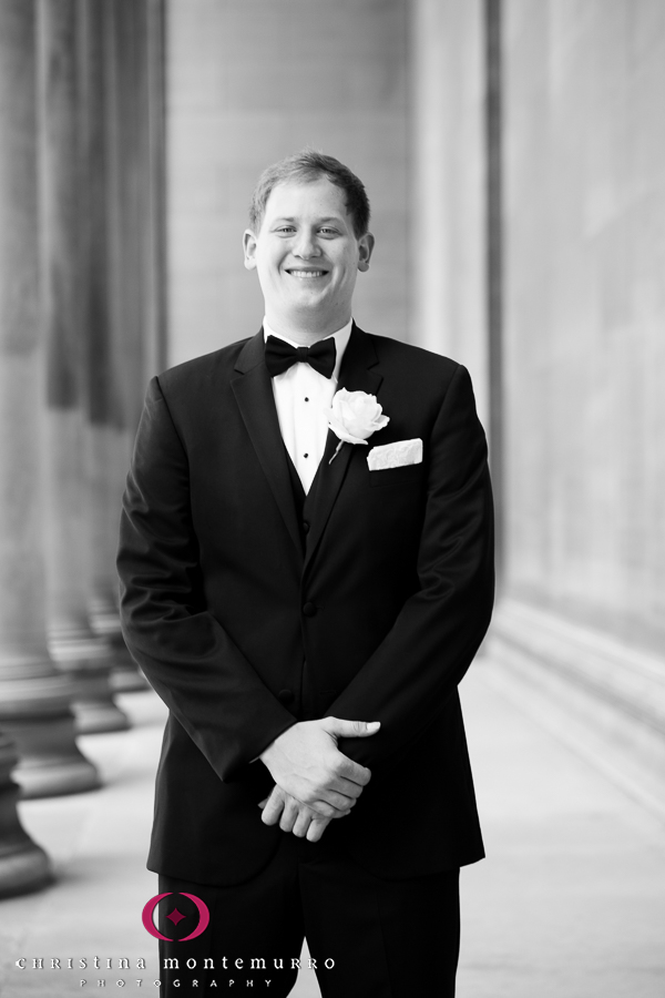 Pittsburgh Wedding Photographer Groom Mellon Institute