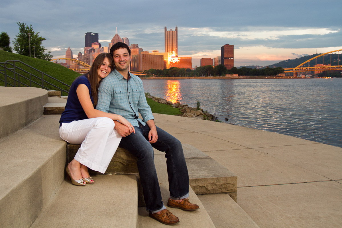 Christina Montemurro Engagement Portfolio - couple on north shore at sunset