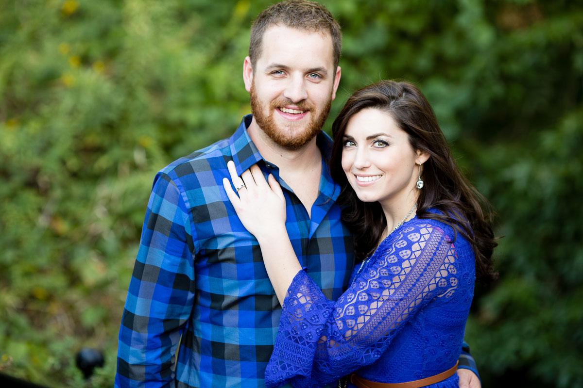 Christina Montemurro Engagement Portfolio - couple in blue