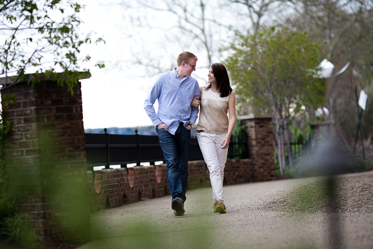 Christina Montemurro Engagement Portfolio - couple walking