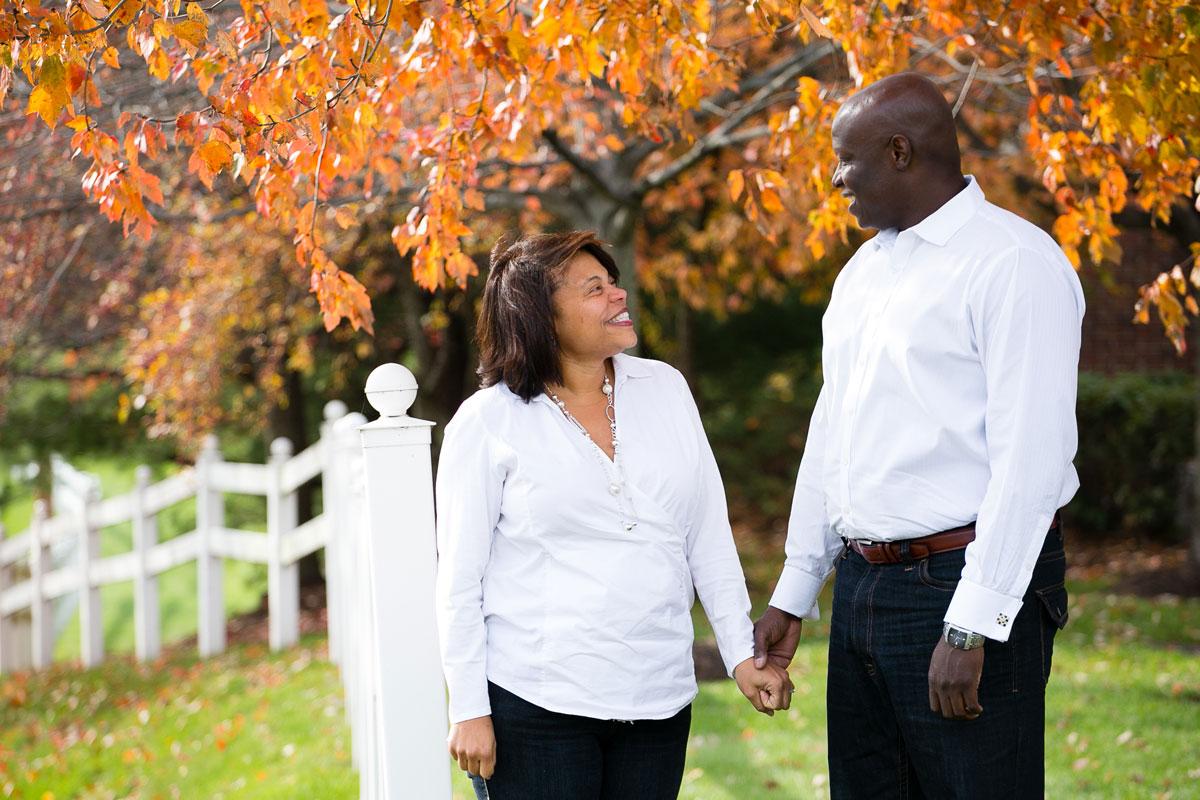 Christina Montemurro Engagement Portfolio - couple during autumn