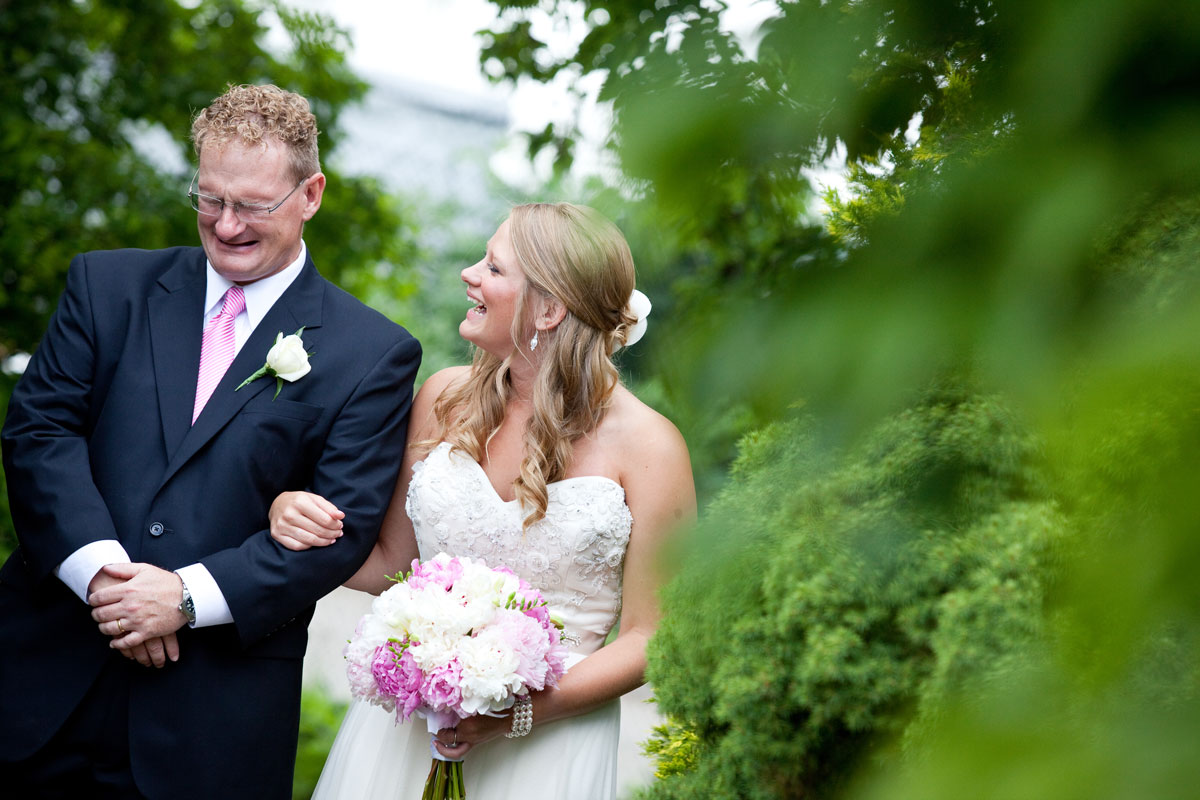Pamela's Portfolio - Christina Montemurro Photography - bride and dad before walking down aisle