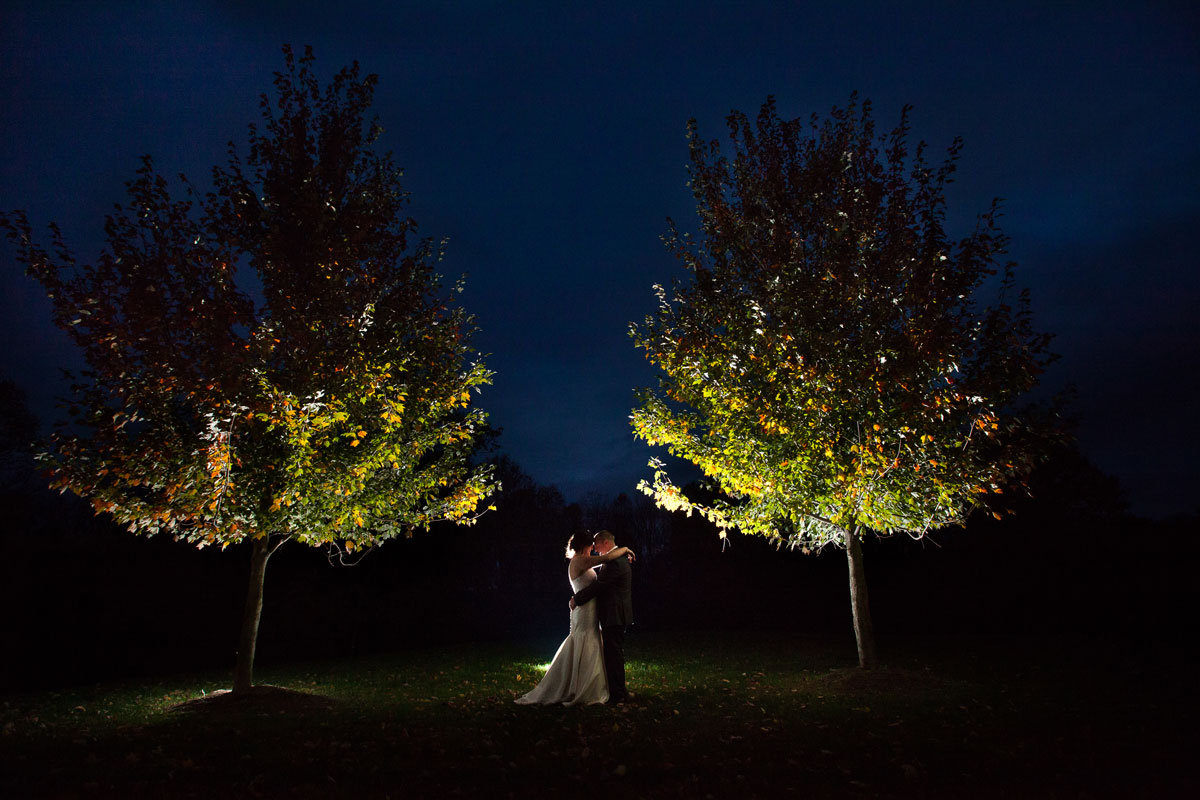 Pamela's Portfolio - Christina Montemurro Photography - bride and groom night photo