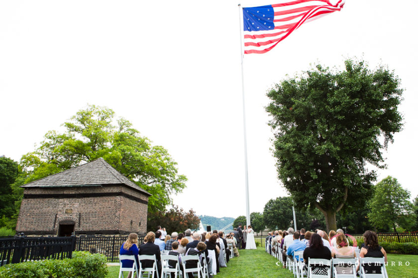 Summer Wedding Ceremony at Point State Park Block House